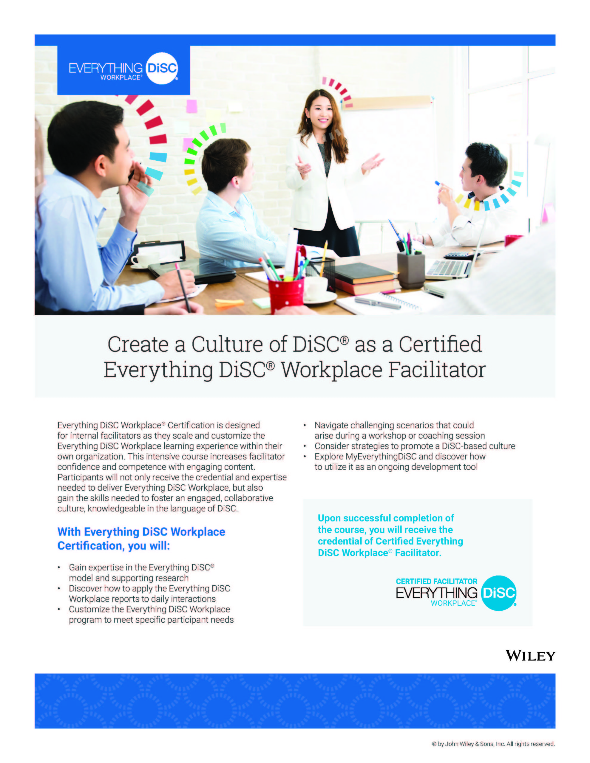 Certification Everything DiSC Workplace Brochure